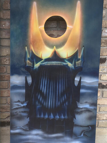 Barad-dûr, the dark tower from Lord of the Rings