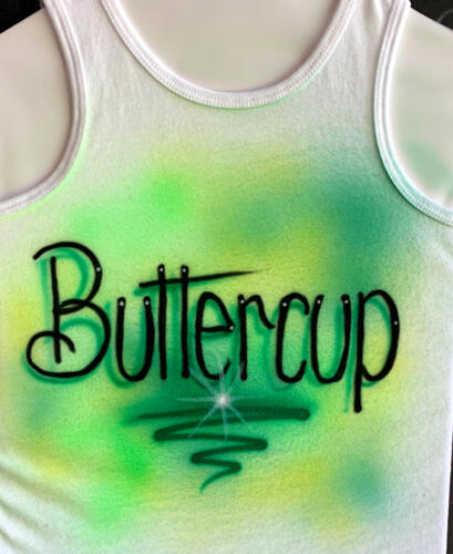 Lettering on tank top
